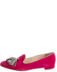Hot pink tassel loafers original 4128668