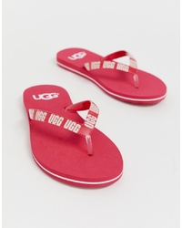 UGG Simi Logo Flip Flops In Pink