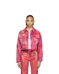 MSGM Pink Denim Tie Dye Jacket