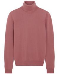 Bottega Veneta Cashmere Turtleneck Sweater Antique Rose