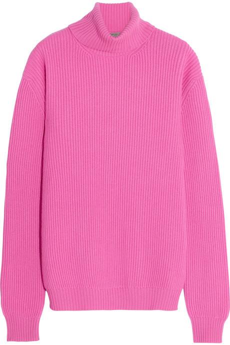 Bottega Veneta Ribbed Cashmere Turtleneck Sweater | Where to buy ...