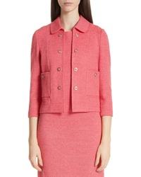 St. John Collection Beti Knit Crop Jacket