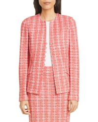 St. John Collection Bold Vertical Tweed Knit Jacket