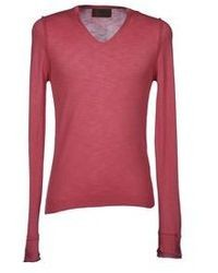 Hot Pink V-neck Sweater