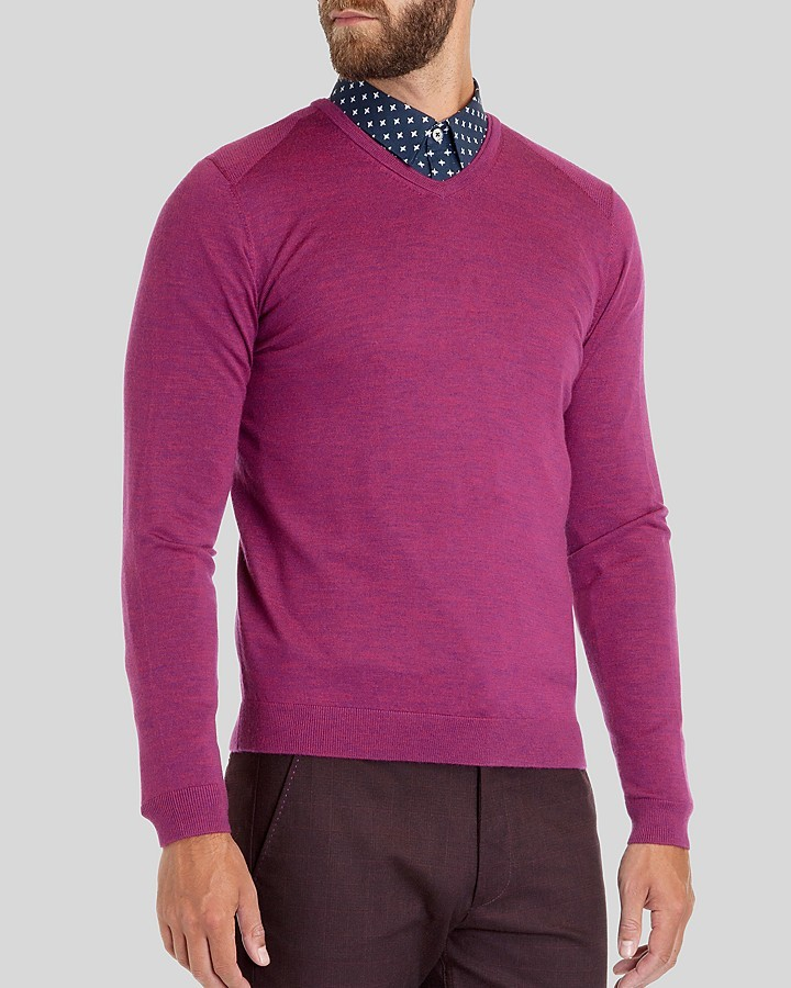 448b1f86da5 $148, Ted Baker Babel Merino Wool V Neck Sweater