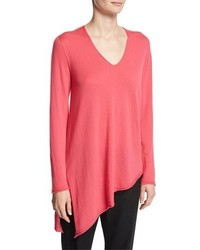 Cashmere v neck asymmetric sweater medium 3719296