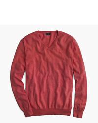 Cotton cashmere v neck sweater medium 5080050