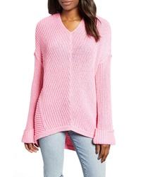 Caslon Cuffed Sleeve Sweater