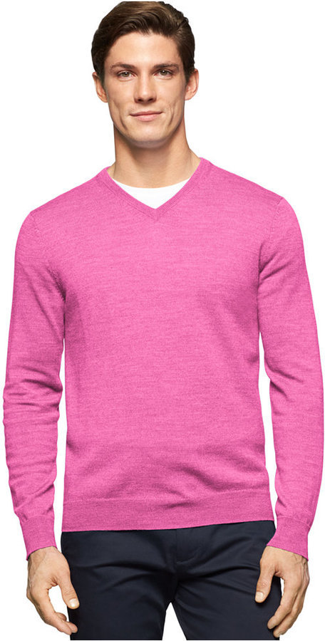 796f71fa574 $89, Calvin Klein Merino Wool V Neck Sweater