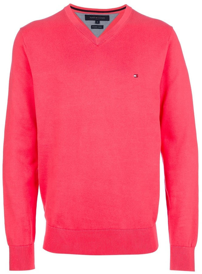 tommy hilfiger v neck sweater where to buy how to wear. Black Bedroom Furniture Sets. Home Design Ideas