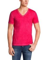 Hot Pink V-neck T-shirts for Men | Men's Fashion