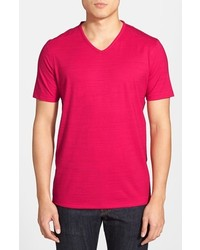Hot Pink V-neck T-shirts for Men | Men's Fashion