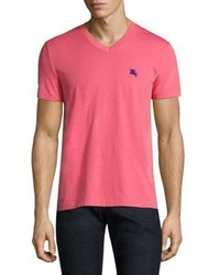 Burberry Lindon Solid V Neck Tee