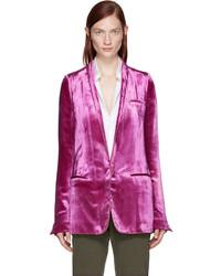 Haider Ackermann Pink Velvet Blazer