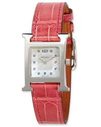 Hermes Heure H Stainless Steel Alligator Strap