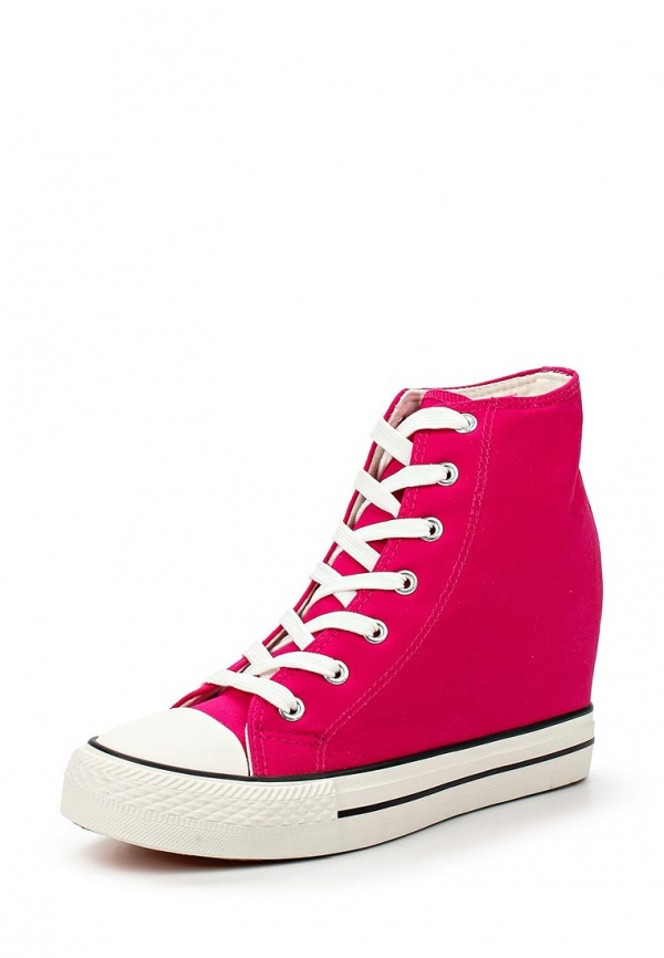 68f82fca41e5 Hot Pink Wedge Sneakers. Hot Pink Wedge Sneakers by Bella Comoda