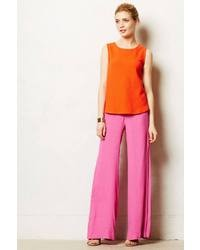 Women's Hot Pink Wide Leg Pants by Anthropologie | Women's Fashion