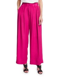 CNC Costume National Costume National Pleated Front Wide Leg Trousers Pink
