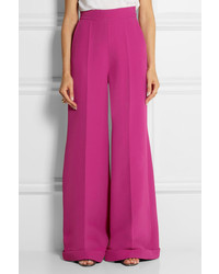 Delpozo Wool Crepe Wide Leg Pants | Where to buy & how to wear