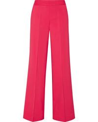 Stretch cady wide leg pants fuchsia medium 4393916