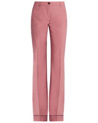 Wide leg stretch wool trousers medium 3643396