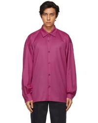 King & Tuckfield Pink Pleated Sleeve Oversized Shirt