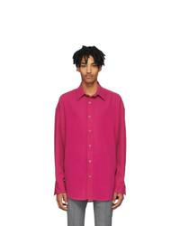 AMI Alexandre Mattiussi Pink Wool Oversized Shirt