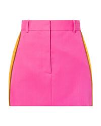 Calvin Klein 205W39nyc Striped Wool Twill Mini Skirt