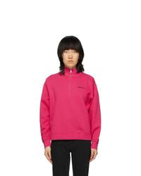 Carhartt Work In Progress Pink Script Highneck Sweatshirt