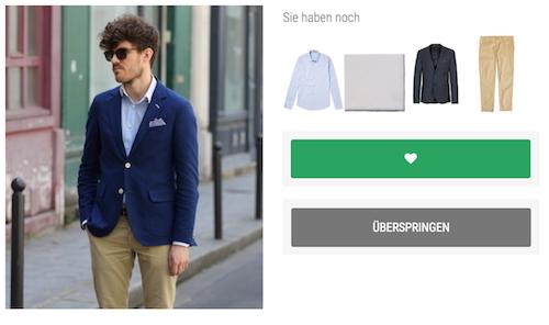 2. Erhalten Sie individuelle Outfit Tipps basierend auf Ihrer Garderobe.