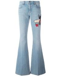 Jean flare bleu clair Gucci