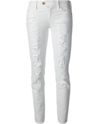 Jean skinny déchiré blanc 7 For All Mankind