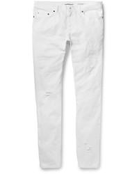 Acheter jean skinny déchiré blanc hommes  choisir jeans skinny ... d9b8a2330fd7