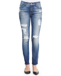 Jean skinny déchiré bleu 7 For All Mankind