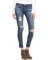 Jean skinny déchiré bleu AG Jeans