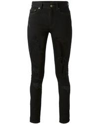 Jean skinny déchiré noir Saint Laurent