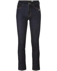 Jean skinny en coton bleu marine Love Moschino