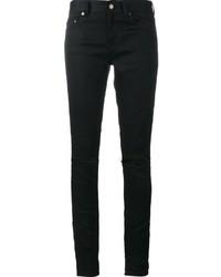 Jean skinny en coton déchiré noir Saint Laurent