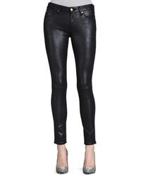 Jean skinny en cuir noir 7 For All Mankind