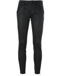 Jean skinny en cuir noir Burberry