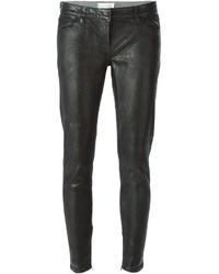 Jean skinny en cuir noir Faith Connexion