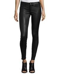 Jean skinny en cuir noir Rag & Bone