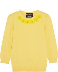 Jersey con adornos amarillo de Moschino