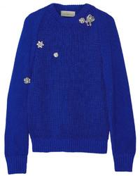 Jersey con adornos azul de Preen by Thornton Bregazzi