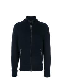 Jersey con cremallera azul marino de Tom Ford