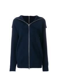 Jersey con cremallera azul marino de Victoria Beckham