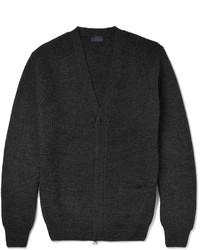 Jersey con cremallera de punto negro de Lanvin