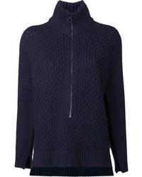 Jersey con cremallera en azul marino y blanco de 3.1 Phillip Lim