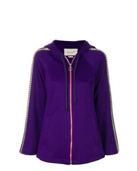 Jersey con cremallera en violeta de Gucci
