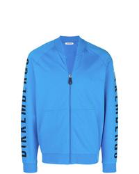 Jersey con cremallera estampado azul de Dirk Bikkembergs